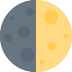 🌓 first quarter moon Emoji on Twitter Platform