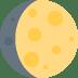 🌔 Waxing Gibbous Moon Emoji on Twitter Platform
