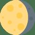 🌖 Waning Gibbous Moon Emoji on Twitter Platform