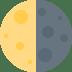 🌗 Last Quarter Moon Emoji on Twitter Platform
