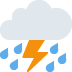 ⛈️ cloud with lightning and rain Emoji on Twitter Platform