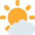 🌤️ sun behind small cloud Emoji on Twitter Platform