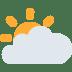 🌥️ Sun Behind Large Cloud Emoji on Twitter Platform