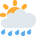 🌦️ Sun Behind Rain Cloud Emoji on Twitter Platform