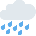 🌧️ cloud with rain Emoji on Twitter Platform