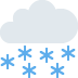 🌨️ cloud with snow Emoji on Twitter Platform