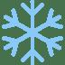 ❄️ snowflake Emoji on Twitter Platform