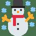 ☃️ snowman Emoji on Twitter Platform