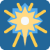 🎆 fireworks Emoji on Twitter Platform
