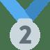 🥈 2nd place medal Emoji on Twitter Platform