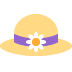 👒 woman's hat Emoji on Twitter Platform