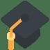 🎓 graduation cap Emoji on Twitter Platform