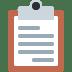 📋 clipboard Emoji on Twitter Platform