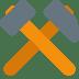 ⚒️ hammer and pick Emoji on Twitter Platform