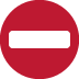 ⛔ no entry Emoji on Twitter Platform