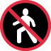 🚷 no pedestrians Emoji on Twitter Platform