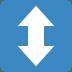 ↕️ up-down arrow Emoji on Twitter Platform