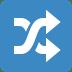 🔀 shuffle tracks button Emoji on Twitter Platform