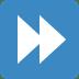 ⏩ fast-forward button Emoji on Twitter Platform