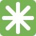 ✳️ eight-spoked asterisk Emoji on Twitter Platform