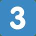 3️⃣ keycap: 3 Emoji on Twitter Platform