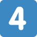 4️⃣ keycap: 4 Emoji on Twitter Platform