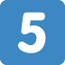 5️⃣ keycap: 5 Emoji on Twitter Platform