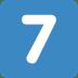 7️⃣ keycap: 7 Emoji on Twitter Platform