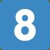 8️⃣ keycap: 8 Emoji on Twitter Platform