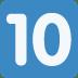 🔟 keycap: 10 Emoji on Twitter Platform