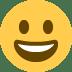 😀 Visage Souriant Emoji sur la plateforme Twitter