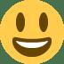 😃 Mukhang Nakangisi at Malaki ang Mata Emoji sa Twitter Platform