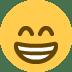 😁 Beaming Face With Smiling Eyes Emoji on Twitter Platform