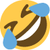 🤣 Tumbado en el suelo por la risa Emoji en la plataforma de Twitter