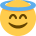 😇 smiling face with halo Emoji on Twitter Platform