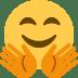 🤗 Faccina Che Abbraccia Emoji sulla Piattaforma Twitter