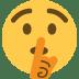 🤫 shushing face Emoji on Twitter Platform
