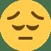 😔 Nachdenkliches Gesicht Emoji auf Twitter-Plattform