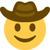🤠 cowboy hat face Emoji on Twitter Platform