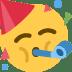 🥳 partying face Emoji on Twitter Platform