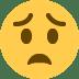😟 Visage Inquiet Emoji sur la plateforme Twitter