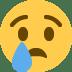 😢 哭脸 推特平台的表情符号