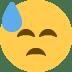 😓 downcast face with sweat Emoji on Twitter Platform
