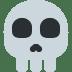 💀 Schedel Met Gekruisde Botten Emoji op Twitter Platform
