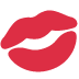 💋 Kussmarke Emoji auf Twitter-Plattform