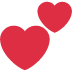 💕 two hearts Emoji on Twitter Platform