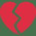 💔 Cuore Spezzato Emoji sulla Piattaforma Twitter