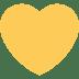 💛 Geel Hart Emoji op Twitter Platform