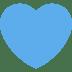 💙 blue heart Emoji on Twitter Platform