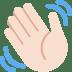 👋🏻 waving hand: light skin tone Emoji on Twitter Platform